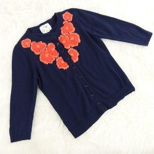 Tabitha Firebloom Embroidered Cardigan Sweater